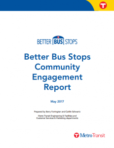 Better Bus Stops Community Engagement Report